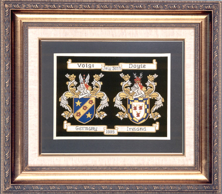 Traditional Anniversary Hand Embroidery Framed