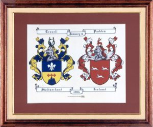 Anniversary Double Coat of Arms Framed