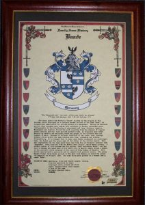 Celebration Scroll Framed