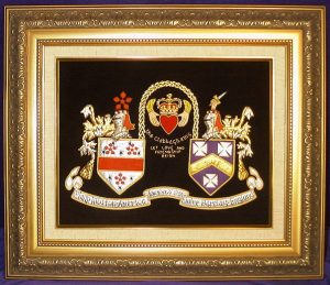 Claddagh Embroidery - with Gold Frame