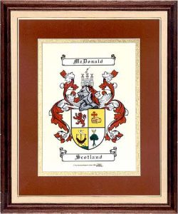 Small Coat of Arms Framed