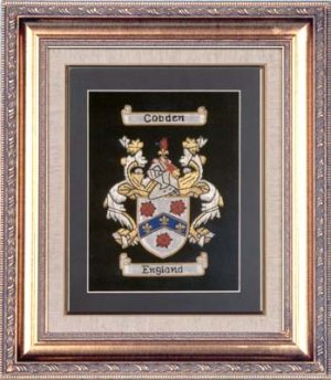 Small Embroidery - with Gold Frame