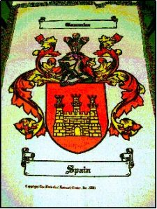 Woven Throw with single Coat of Arms