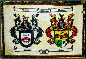 Woven Throw with double Coat of Arms
