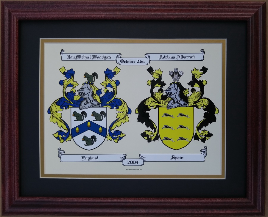 Anniversary Coat of Arms, Framed – Old World Family Names